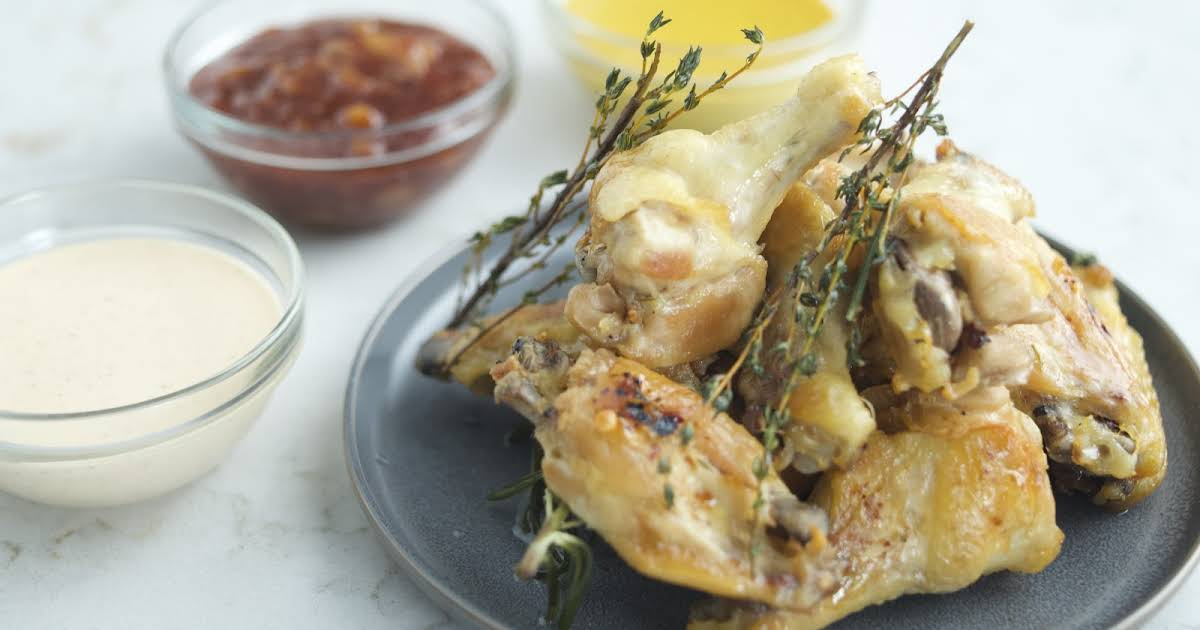 Chicken Wings With Dipping Sauces Recipe By Chef Richard